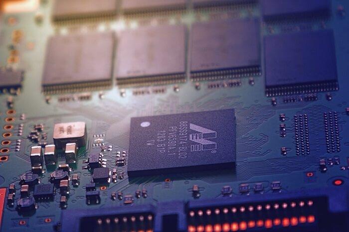 A green semiconductor PCB