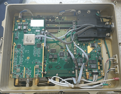 An example of in-block mounting of a digital receive-transmit unit