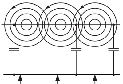 Crosstalk between wires can be capacitive