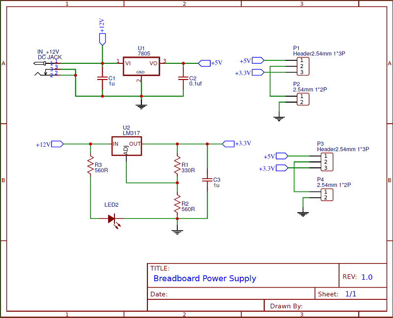 PCB Layout for Power Supply Unit Layers