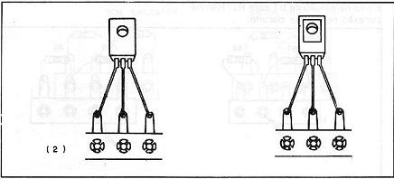 Transistor mounted inverted.