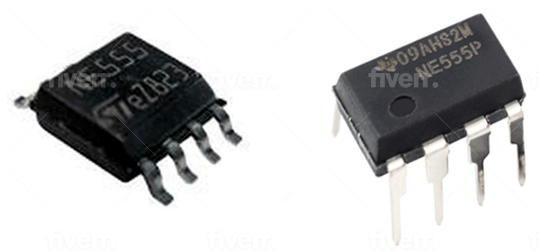 SMD and Through-hole Packages of NE555 Timer IC