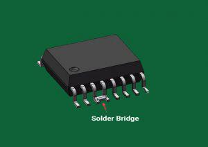 Solder bridge